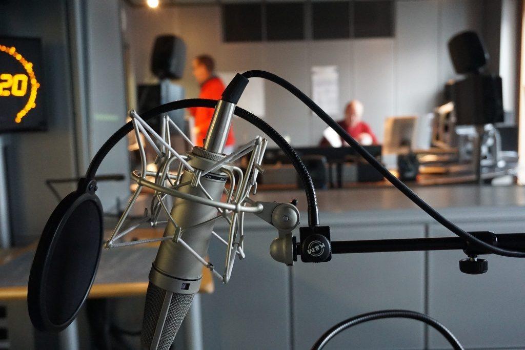 Mikrofon im NDR Aufnahmestudio