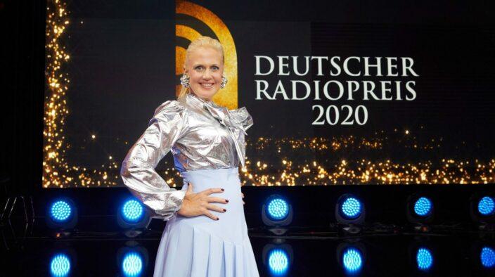 Pressefoto Deutscher Radiopreis 2020 mit Barbara Schöneberger