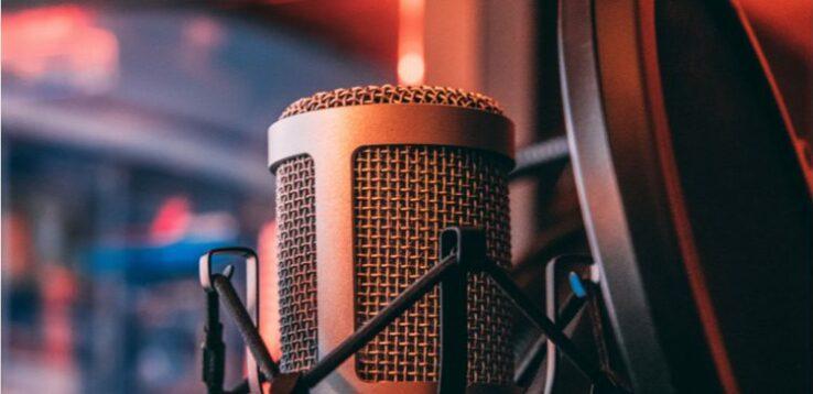 Nahe Aufnahme eines Mikrofons.
