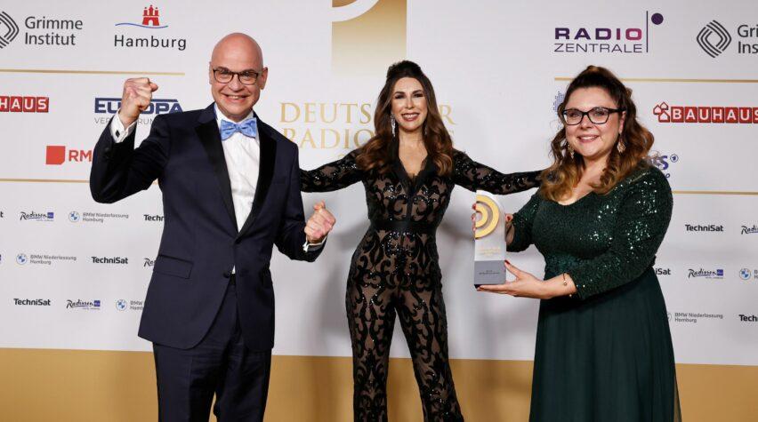 Auszeichnung Beste Morgensendung beim Deutschen Radiopreis.